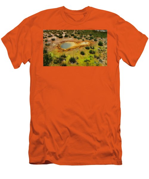 Yellowstone Hot Pool Men's T-Shirt (Slim Fit) by Ausra Huntington nee Paulauskaite