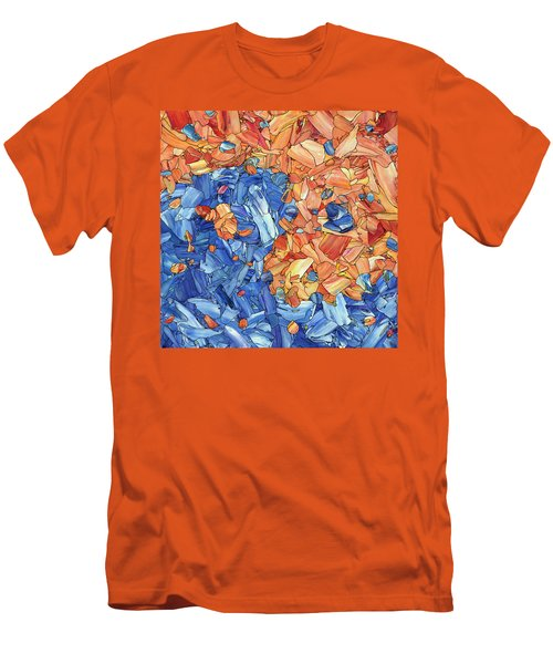 Men's T-Shirt (Slim Fit) featuring the painting Yin-yang by James W Johnson