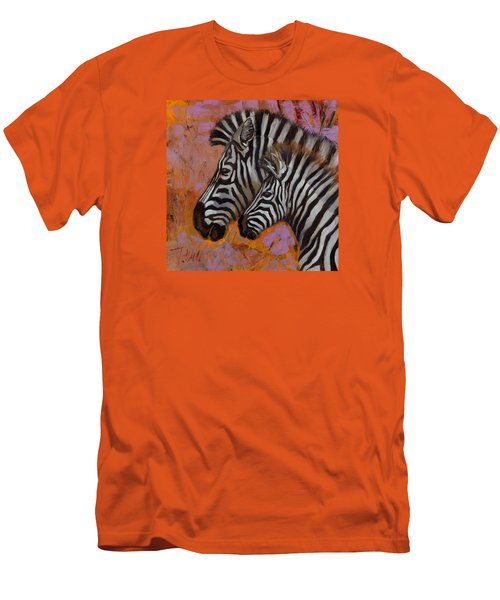 Men's T-Shirt (Slim Fit) featuring the painting Yipes Stripes by Pattie Wall