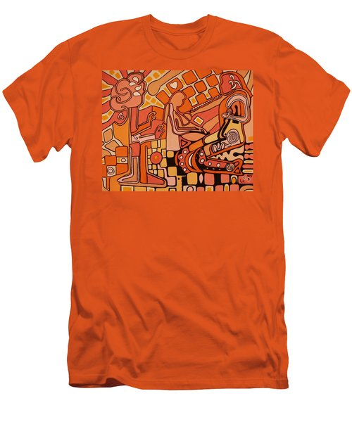 You Me And The Machine Men's T-Shirt (Slim Fit) by Barbara St Jean