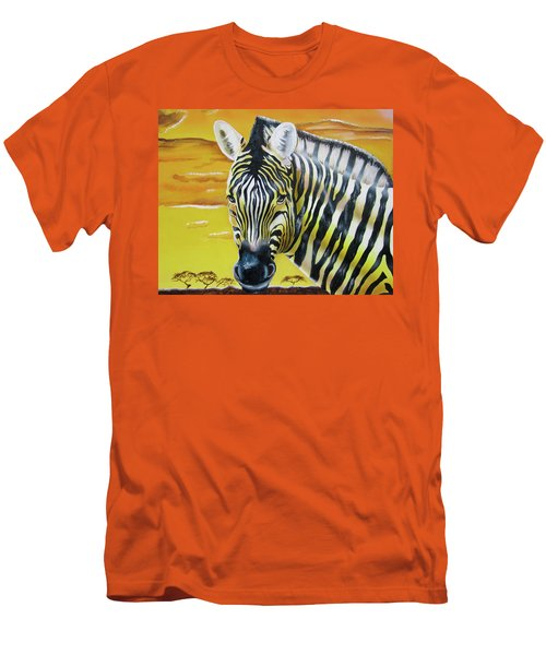 Men's T-Shirt (Athletic Fit) featuring the painting As Day As Night by Thomas J Herring