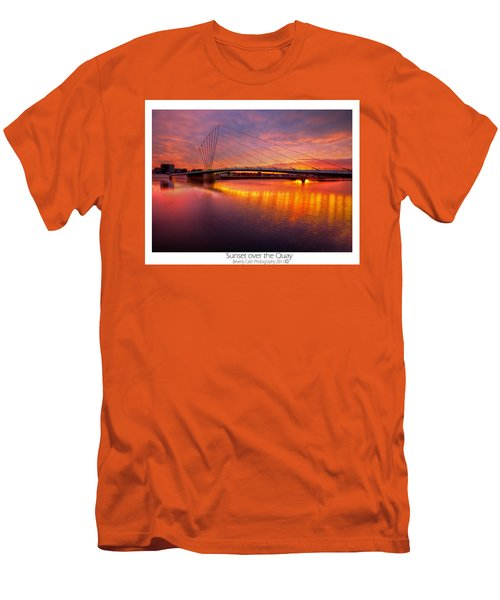 Men's T-Shirt (Slim Fit) featuring the photograph  Sunset Over The Quay by Beverly Cash