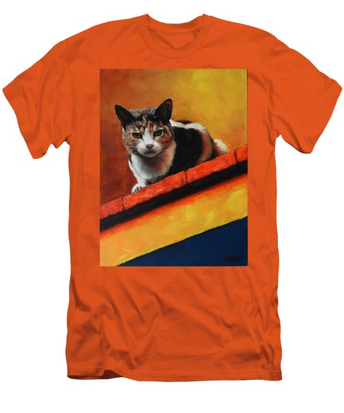 A Top Cat In The Shadow, Peru Impression Men's T-Shirt (Athletic Fit)