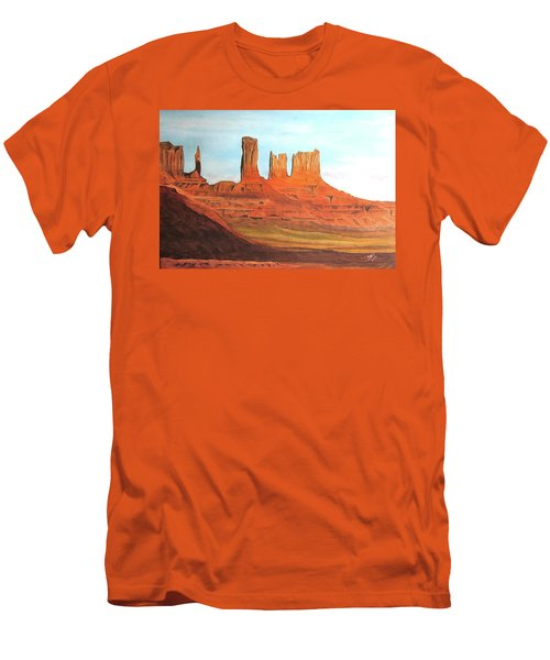 Arizona Monuments Men's T-Shirt (Athletic Fit)