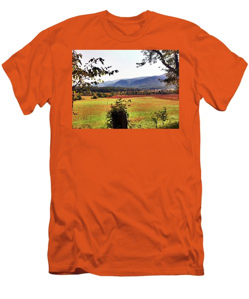 Men's T-Shirt (Slim Fit) featuring the photograph Cades Cove by Janice Spivey