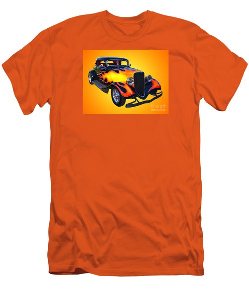 1934 Ford 3 Window Coupe Hotrod Men's T-Shirt (Slim Fit) by Jim Carrell
