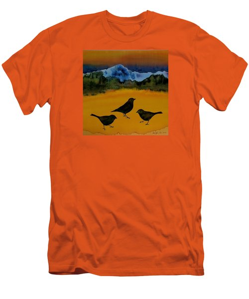 3 Blackbirds Men's T-Shirt (Slim Fit) by Carolyn Doe