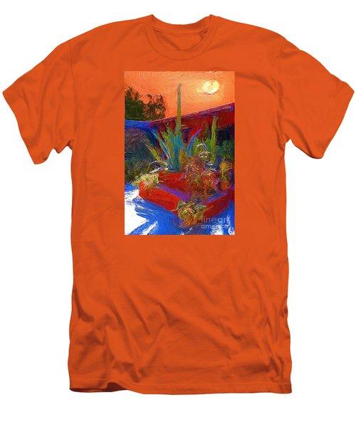 Men's T-Shirt (Slim Fit) featuring the photograph A Garden In Pozos by John  Kolenberg