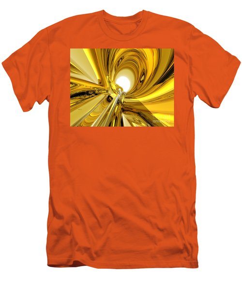 Men's T-Shirt (Slim Fit) featuring the digital art Abstract Gold Rings by Phil Perkins