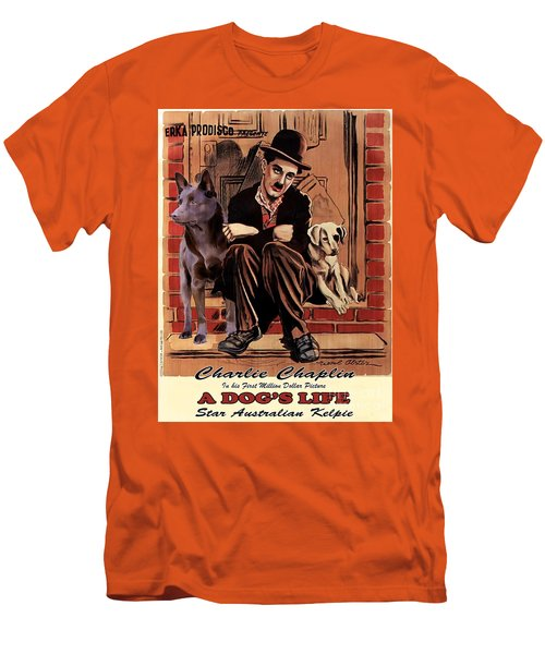 Australian Kelpie - A Dogs Life Movie Poster Men's T-Shirt (Athletic Fit)