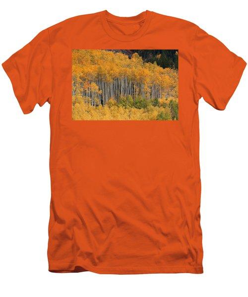 Men's T-Shirt (Slim Fit) featuring the photograph Autumn Curtain by Jim Garrison