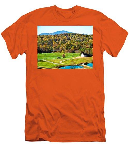 Men's T-Shirt (Slim Fit) featuring the photograph Autumn On The Farn by Susan Leggett