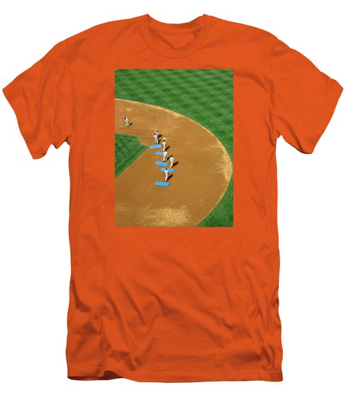 Between Innings Men's T-Shirt (Slim Fit) by Mike Martin
