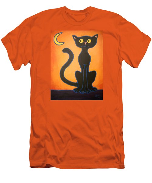 Black Cat Men's T-Shirt (Athletic Fit)