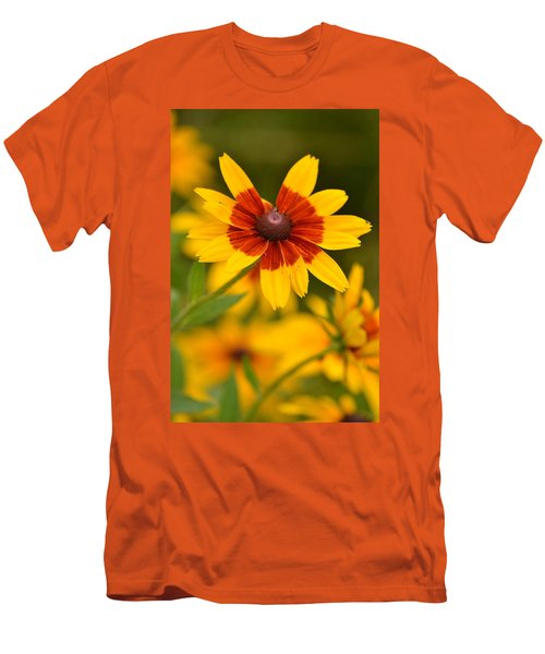 Men's T-Shirt (Slim Fit) featuring the photograph Blush-eyed Susan by JD Grimes