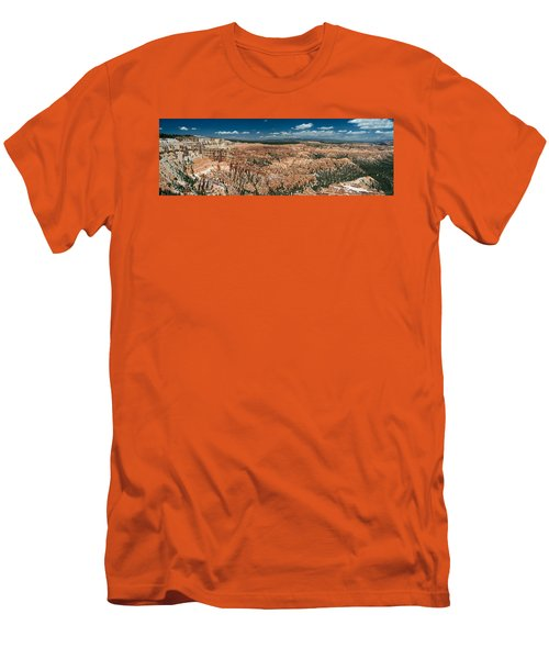 Bryce Canyon Panaramic Men's T-Shirt (Slim Fit) by Larry Carr