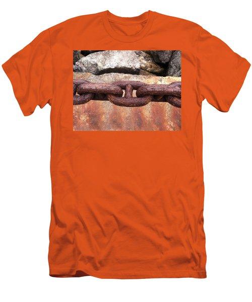 Chain Under The Golden Gate Bridge Men's T-Shirt (Slim Fit) by Bill Owen