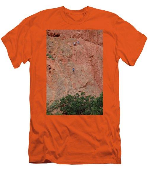Coming Down The Mountain Men's T-Shirt (Slim Fit) by Randy J Heath
