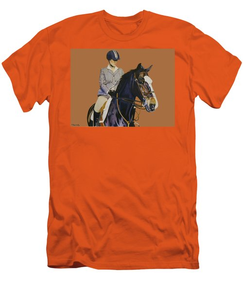 Concentration - Hunter Jumper Horse And Rider Men's T-Shirt (Slim Fit) by Patricia Barmatz