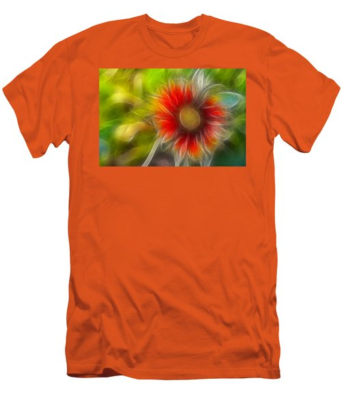 Men's T-Shirt (Slim Fit) featuring the photograph Dalia Pseudo Fractal by Lynne Jenkins