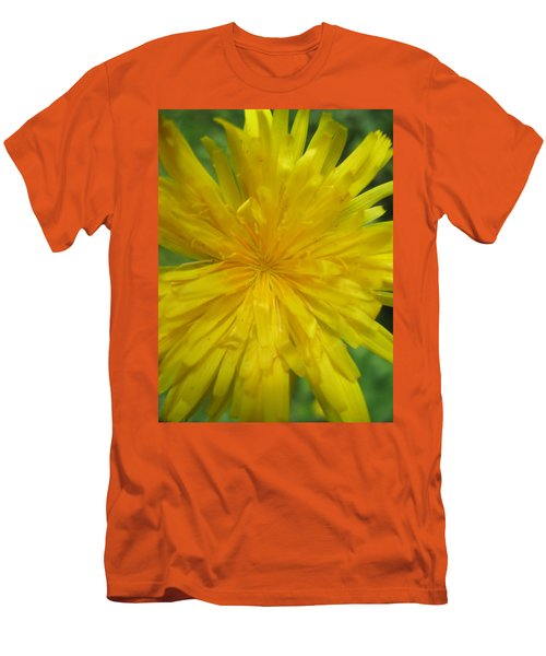 Men's T-Shirt (Slim Fit) featuring the photograph Dandelion Close Up by Kym Backland