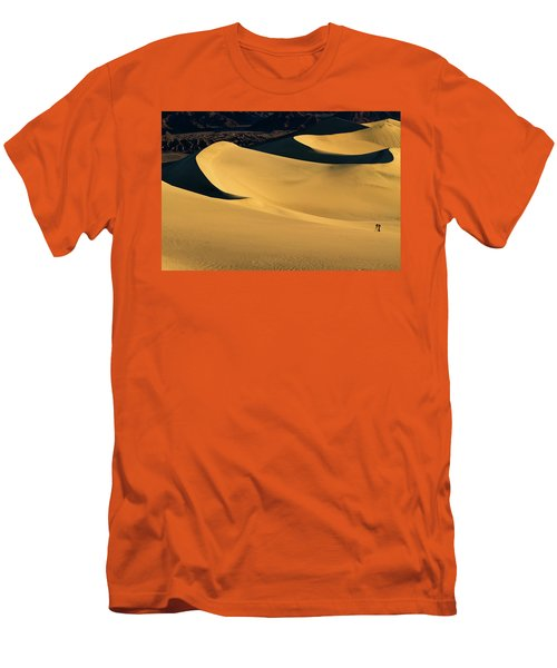 Death Valley And Photographer In Morning Sun Men's T-Shirt (Athletic Fit)