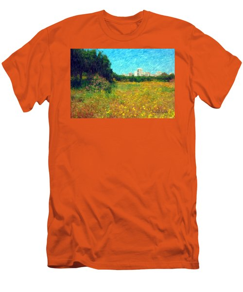 Men's T-Shirt (Athletic Fit) featuring the photograph Do-00479 Bois Des Pins - Impressionist by Digital Oil