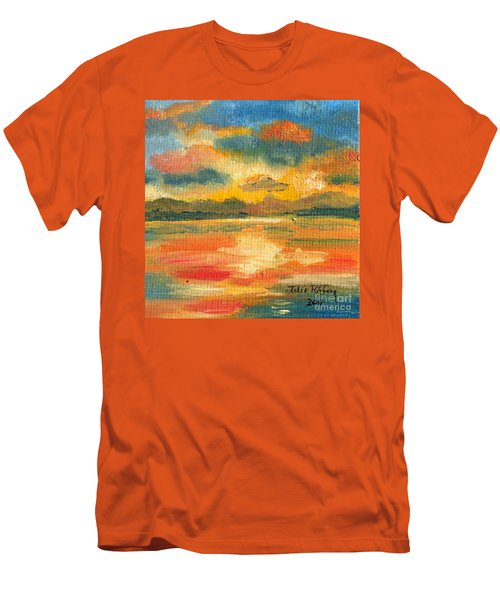 Fiery Sunset Men's T-Shirt (Slim Fit) by Julie Brugh Riffey