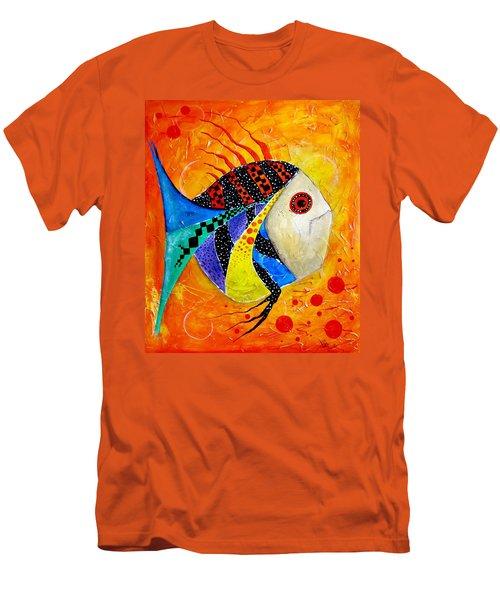 Fish Splatter II Men's T-Shirt (Athletic Fit)