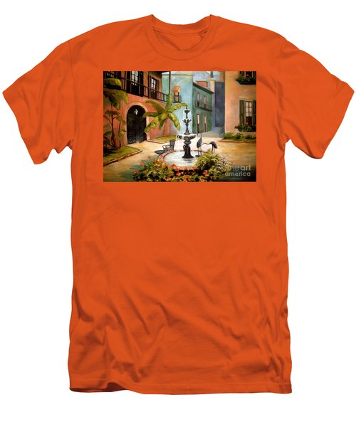 French Quarter Fountain Men's T-Shirt (Athletic Fit)