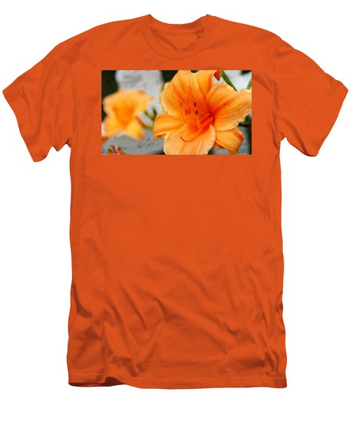 Men's T-Shirt (Slim Fit) featuring the photograph Garden Lily by Davandra Cribbie