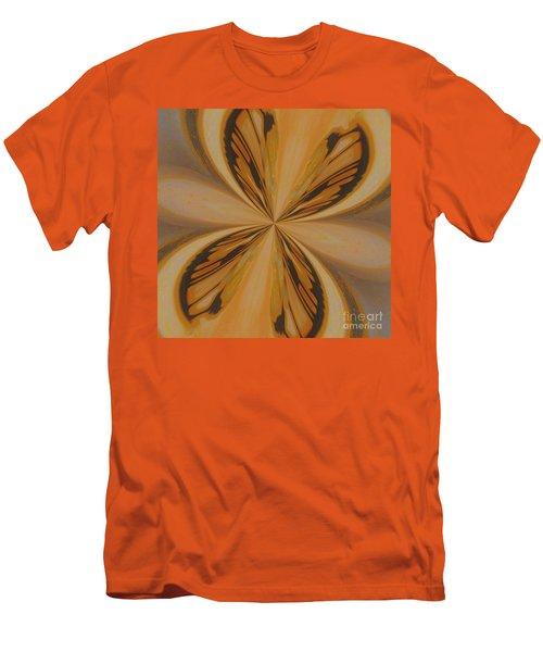 Golden Butterfly Men's T-Shirt (Slim Fit) by Marsha Heiken