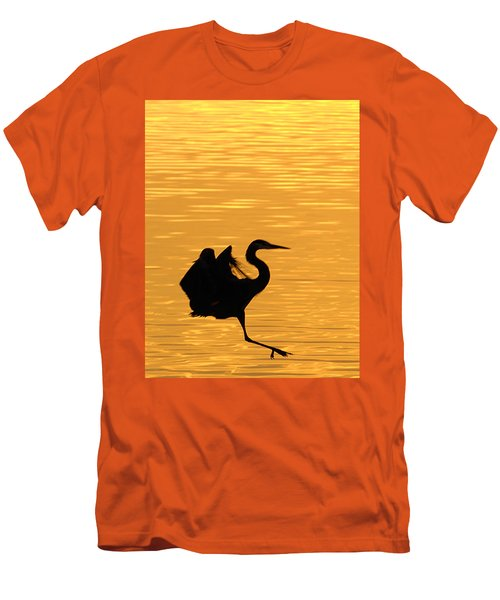 Men's T-Shirt (Slim Fit) featuring the photograph Great Blue Heron by Randall Branham