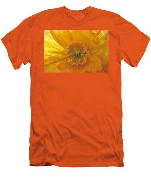 Men's T-Shirt (Slim Fit) featuring the photograph Iceland Poppy 4 by Susan Rovira