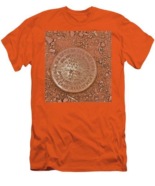 Land Survey Marker Men's T-Shirt (Slim Fit) by Bill Owen