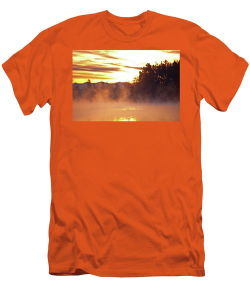 Men's T-Shirt (Slim Fit) featuring the photograph Misty Sunrise by Tikvah's Hope