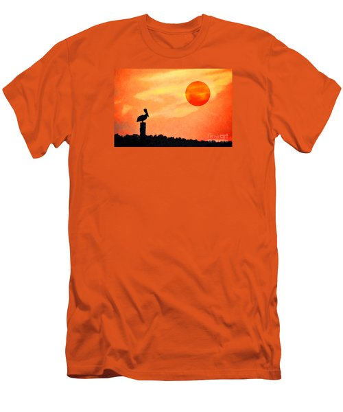 Men's T-Shirt (Slim Fit) featuring the photograph Pelican During Hot Day by Dan Friend