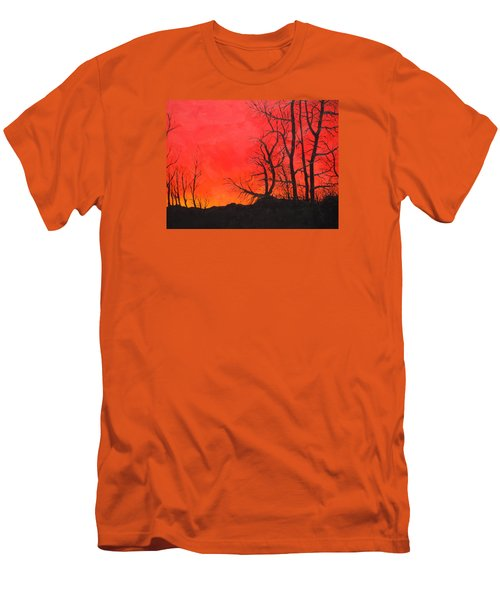 Red Sky  Men's T-Shirt (Slim Fit) by Dan Whittemore