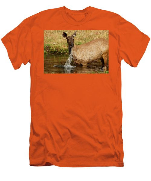 Men's T-Shirt (Slim Fit) featuring the photograph Startled by Fotosas Photography