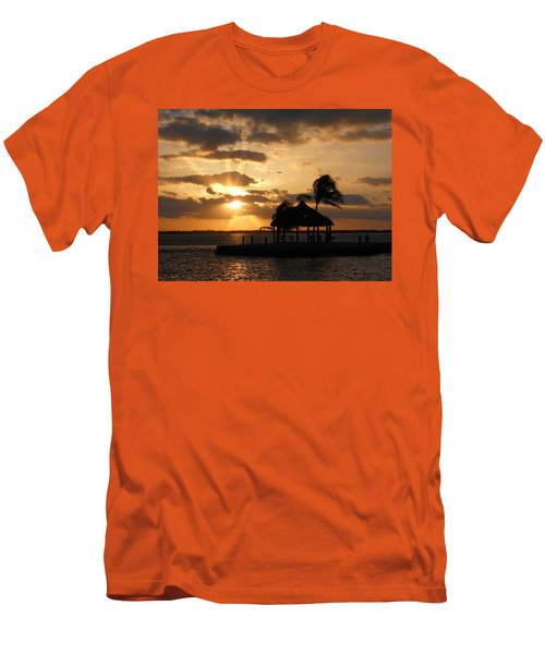 Men's T-Shirt (Slim Fit) featuring the photograph Sunrise Over Bay by Clara Sue Beym