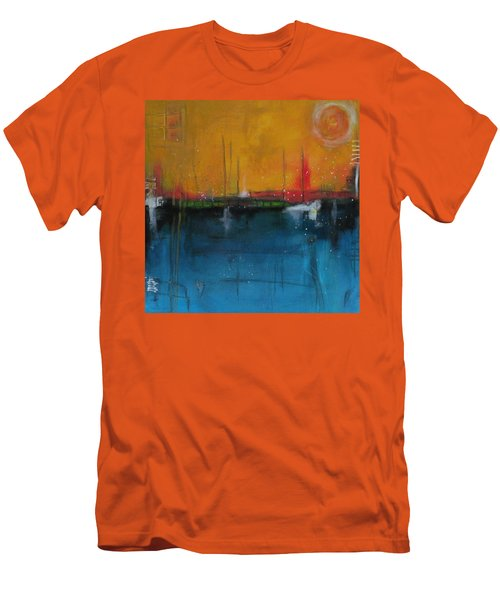 Sunset At The Lake  # 1 Men's T-Shirt (Slim Fit) by Nicole Nadeau