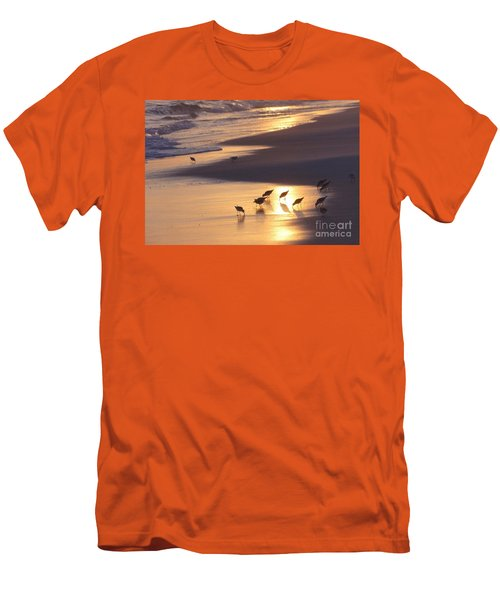 Men's T-Shirt (Slim Fit) featuring the photograph Sunset Beach by Nava Thompson