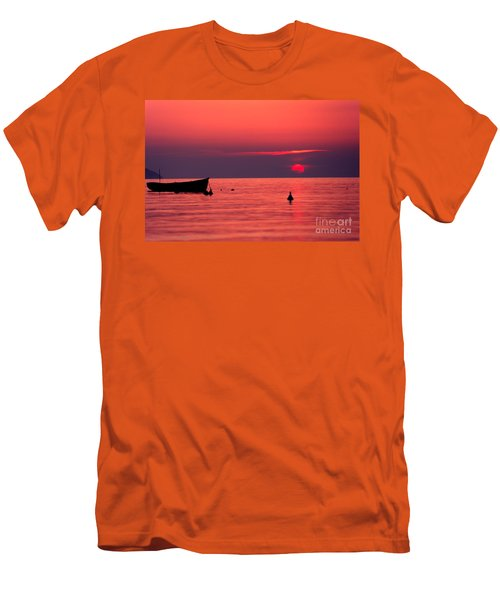 Men's T-Shirt (Slim Fit) featuring the photograph Sunset In Elba Island by Luciano Mortula
