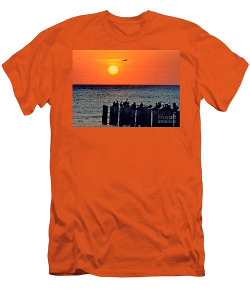 Men's T-Shirt (Slim Fit) featuring the photograph Sunset In Florida by Lydia Holly