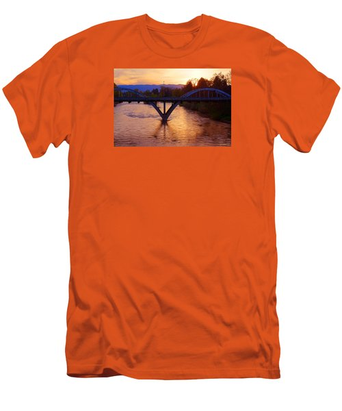 Sunset Over Caveman Bridge Men's T-Shirt (Slim Fit) by Mick Anderson