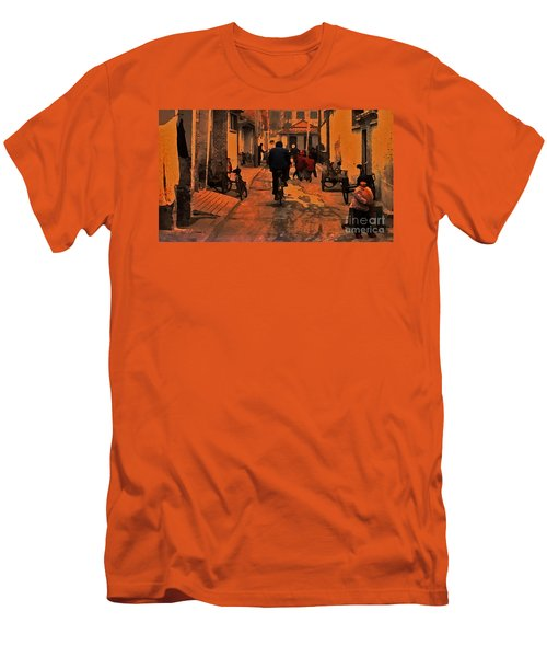 Men's T-Shirt (Slim Fit) featuring the photograph The Neighborhood by Lydia Holly