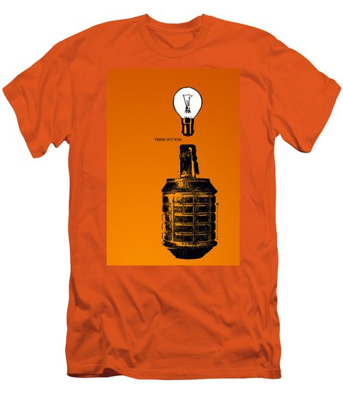 Think Out War Men's T-Shirt (Slim Fit) by Tony Koehl