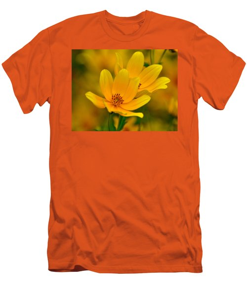 Men's T-Shirt (Slim Fit) featuring the photograph Yellow Blaze by Marty Koch