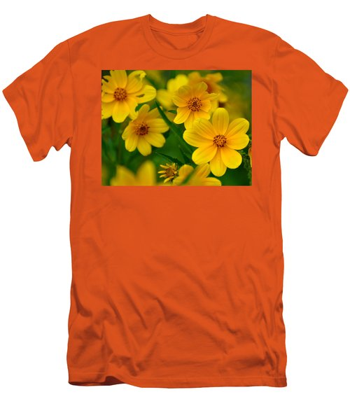 Men's T-Shirt (Slim Fit) featuring the photograph Yellow Flowers by Marty Koch
