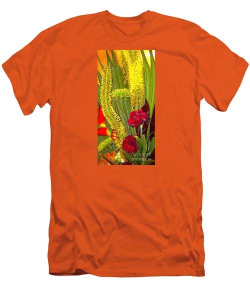 Men's T-Shirt (Slim Fit) featuring the photograph  Artistic Floral Arrangement by Merton Allen